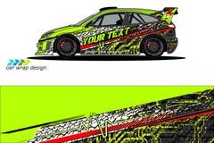 Grafische voertuiglivrei abstract grungeontwerp als achtergrond voor van de voertuig het vinylomslag en auto brandmerken stock foto