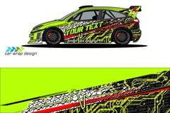 Grafische voertuiglivrei abstract grungeontwerp als achtergrond voor van de voertuig het vinylomslag en auto brandmerken stock afbeelding