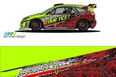 Grafische voertuiglivrei abstract grungeontwerp als achtergrond voor van de voertuig het vinylomslag en auto brandmerken stock fotografie