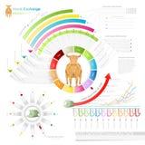 Grafische voorraaduitwisseling van informatie Stock Afbeeldingen
