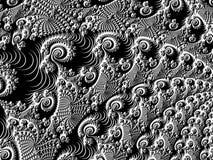 Grafische vreemde spiralen Stock Fotografie