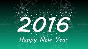 Grafische vuurwerkexplosie tot 2016 4K stock video