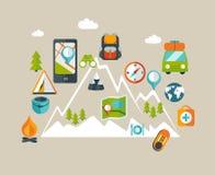 Grafische wandelingsinformatie Royalty-vrije Stock Afbeelding