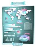 Grafische wereldinformatie royalty-vrije illustratie