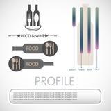 Grafische wijninformatie Stock Fotografie