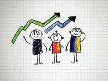 Grafische zaken Royalty-vrije Stock Afbeeldingen