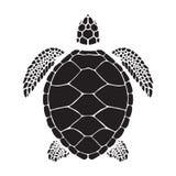 Grafische zeeschildpad Stock Foto