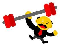 Grafische Zeichentrickfilm-Figur der Illustration des Geschäftsmannes Lizenzfreies Stockfoto