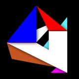 Grafische Zusammensetzung mit geometrischen Elementen Stockfotografie