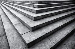 Grafische Zwart-witte Cementtreden Royalty-vrije Stock Afbeeldingen