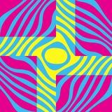 Grafischer abstrakter Hintergrund Gelbe, blaue und rosa Farben stock abbildung