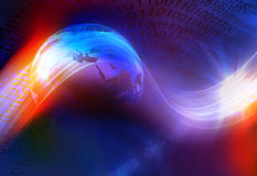 Grafischer Digital-Welthintergrund II Lizenzfreies Stockfoto