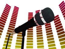 Grafischer Entzerrer und Mic Shows Rock Music Lizenzfreie Stockbilder