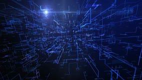 Grafischer futuristischer blauer digitaler Hintergrund vektor abbildung