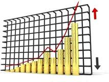 Grafischer Goldactive Stockfoto