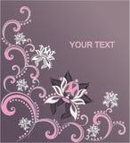Grafischer Hintergrund mit Blume Ornamental Lizenzfreie Stockbilder