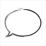 Grafischer Illustrationshintergrund des Blasengespräches | lokalisiertes Schwarzweiss des Zeichensymbols Kommunikation Stockfoto
