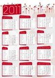 Grafischer Kalender in Rotem und in Grauem Lizenzfreie Stockbilder