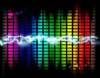 Grafischer Musikhintergrund Lizenzfreie Stockfotografie