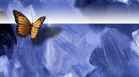 Grafischer Schmetterling mit Beschaffenheitshintergrund Lizenzfreies Stockfoto