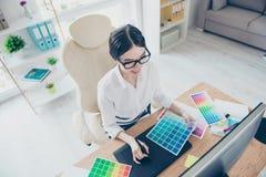 Grafischer Sicht-Art Creative Design Concept Draufsicht von kreativem Stockfoto