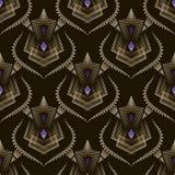 Grafischer Verzierungshintergrund des nahtlosen Art- Decomodernen Musters VE Stockbild