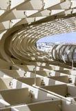 Grafisches Detail der Beschaffenheit von Metropol-Sonnenschirm Stockfotografie