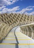 Grafisches Detail der Beschaffenheit von Metropol-Sonnenschirm Stockbilder