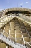 Grafisches Detail der Beschaffenheit von Metropol-Sonnenschirm Stockfotos