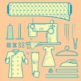 Grafisches Element von Gewebe needleworks Stockbilder