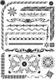 Grafisches Muster mit Anlage und Florenelemente in Jugendstilst. Stockfoto