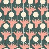 Grafisches nahtloses mit Blumenmuster modischer Hintergrunddruck stockbild