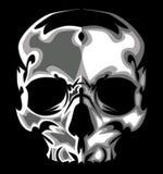 Grafisches Schädel-Bild auf schwarzem Vektor Stockbilder