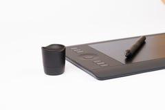 Grafisches Tablet Digital mit grafischem Stift Lizenzfreies Stockfoto