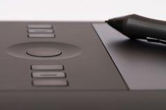 Grafisches Tablet Digital mit grafischem Stift Stockfotografie