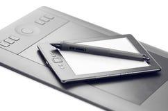 Grafisches Tablet und E-Leser stockfotos