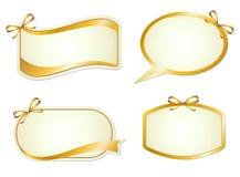 Grafisches Zeichen der Eleganz mit Farbband Stockfoto