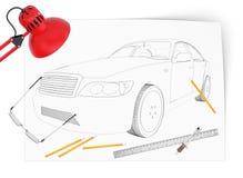 Grafisk bilmodell Arkivfoto