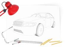 Grafisk bilmodell Royaltyfria Bilder