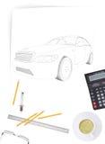 Grafisk bilmodell Royaltyfri Bild