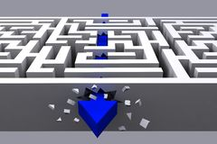 grafisk bitande raksträcka för pil till och med labyrint Royaltyfri Fotografi