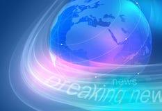 Grafisk breaking newsbakgrund Arkivfoton