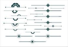 Grafisk dekorativ beståndsdeluppsättning Arkivfoto