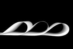 Grafisk design av tre ark av vitbok Arkivfoto