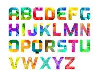 Grafisk design för färgrikt alfabet Arkivfoto