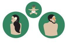 Grafisk design för familj, Arkivbild