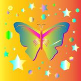 Grafisk design för fjärilsfantasier royaltyfri illustrationer