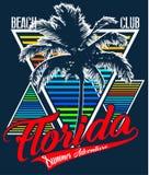 Grafisk design för Florida sommarutslagsplats royaltyfri illustrationer