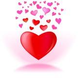 Grafisk design för hjärtavektor Royaltyfri Foto