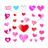 Grafisk design för hjärtavektor Royaltyfri Fotografi